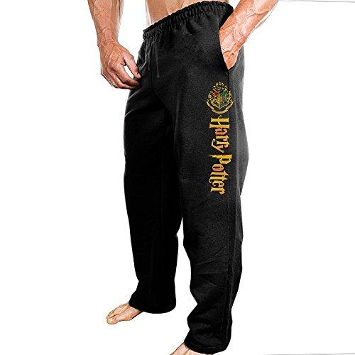 TONGY Men's Harry Potter Novel Film Series Soft Rowing Particular Sweatpants Leisure Wear Size L Black