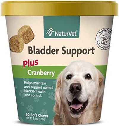 NaturVet – Bladder Support for Dogs – Plus Cranberry – Supports Healthy Bladder Control & Normal Urination – 60 Soft Chews