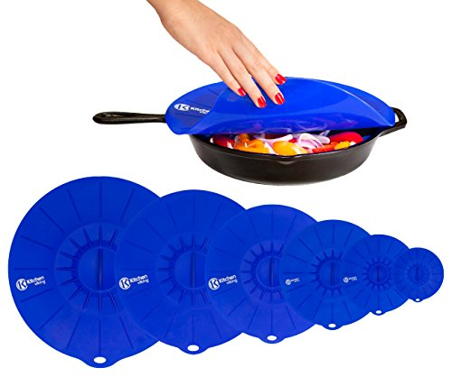 KitchenViking Set of 6 Silicone Suction Lids - 6 Sizes