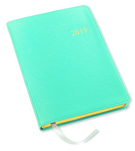 2019 Gallery Leather Desk Weekly Planner Key West Turquoise 8