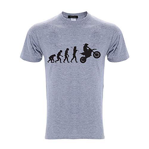 WHLTX Spring and Summer Men's Cotton Short-Sleeved T-Shirt Gray XXXL