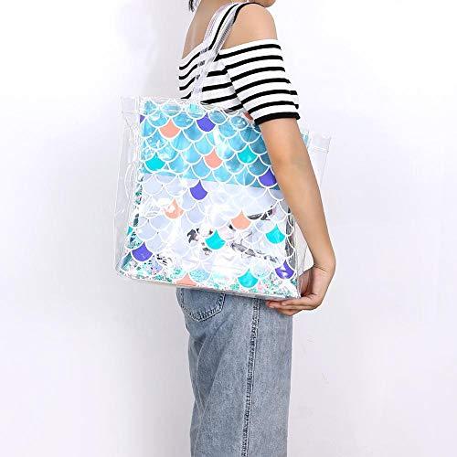 para hombro pvc de mujer al Azul Widewing Bolso qax67xO