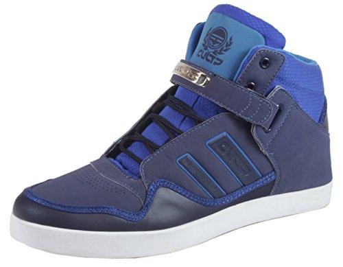 Robinson - Herren Sneaker High Top Lederoptik Basketball Street Schuhe Schnürschuhe 40 41 42 43 44 45 Navy