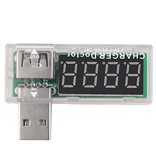 Pudincoco Fã¡Cil y Conveniente Cargador USB Mã©Dico Probador de Baterãa Mã³Vil Detector de Energãa Medidor de...