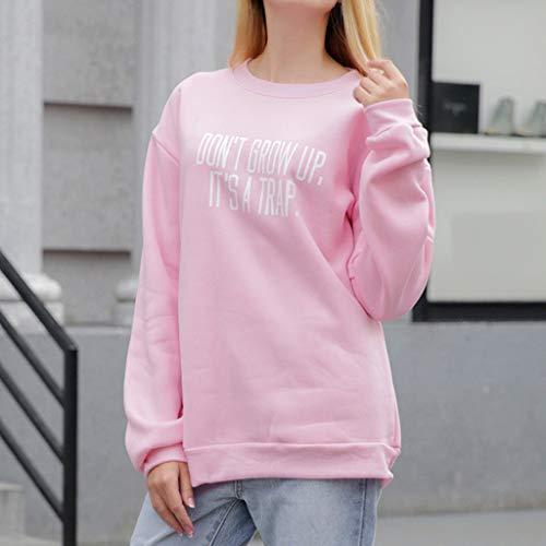 Chándales La Largos Larga Needra De Camisa chaqueta Sudadera Blusa Último 2019 En Moda Sección Abrigo Ocio Manga Pink Top Mujer Abrigos Suéter Invierno Camisas Estilo Confort OHOqpaw