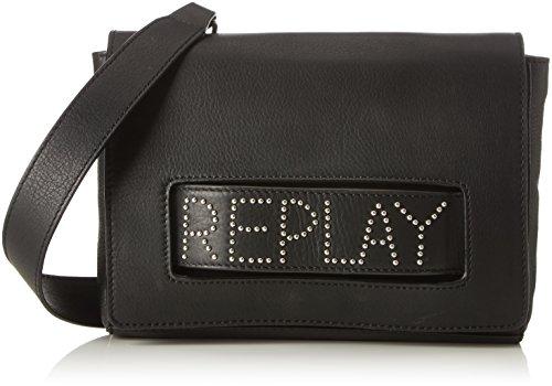 REPLAY Fw3737.000.a3127, Shoppers y bolsos de hombro Mujer, Negro (Black), 4x16x23 cm (B x H T)