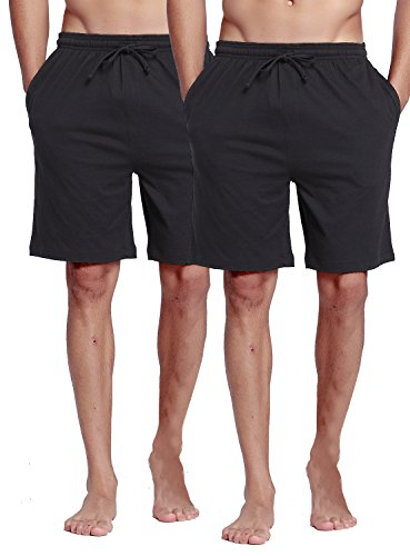 CYZ Collection CYZMen'sSleepShorts-Black2PK-M by CYZ Collection