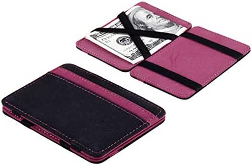 Catty Kelly Mini Neutral Grind Magic Bifold Leather Wallet Card Holder