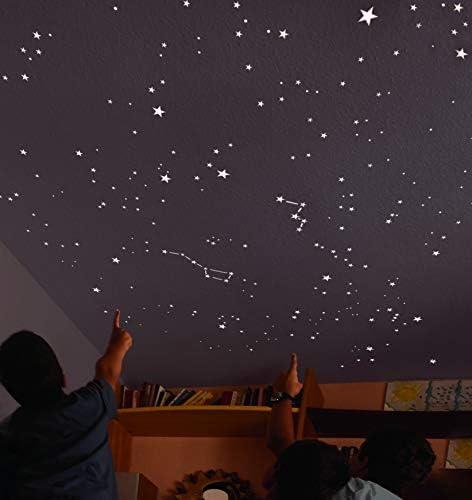 Encambio Alcrea Kit de 270 Estrellas Fluorescentes + Plantilla de ...