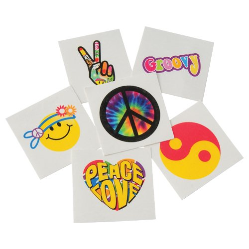 DollarItemDirect Retro Temporary Tattoos , Sold by 15 GROSSES by DollarItemDirect (Image #1)