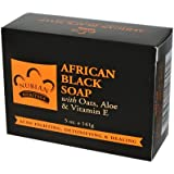 Nubian Heritage African Black Soap With Shea Butter Oats & Aloe Deep Cleansing 5 Oz