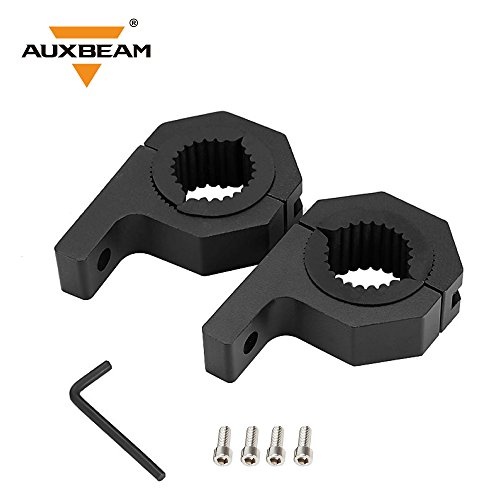 Roll Bar Mounting (Auxbeam LED Light Bar Mounting Bracket Kit Off-Road Light Bar Clamp Mounting Kit For Bull Bar Tube Clamp Roof Roll Cage Holder - Pair)