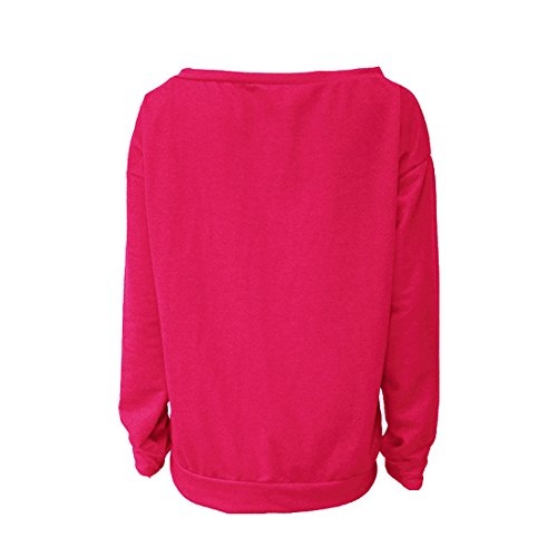 Fashion Femmes Blouse et Hauts Jumpers Casual Automne Lettre Pulls Shirt Longues T Printemps Tee JackenLOVE Rose Manches Pullover Tops Sweat Shirts Rouge Imprime qtvwpZ5Anx