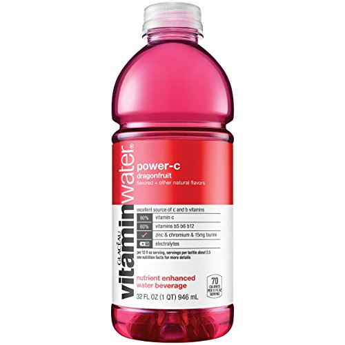 vitaminwater power-c electrolyte enhanced water w/ vitamins, dragonfruit drink, 32 fl oz