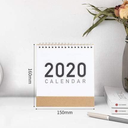 1 PCS 2020 Tischkalender 2020 Planer Kalender Planen Plan Memo DIY handgemaltes Notizkalender Monatsplaner 2019 (Color : S)