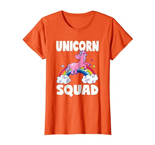 Retro Unicorn (Womens Unicorn Squad Cute Retro Unicorns Rainbow Love T-Shirt Large Orange)