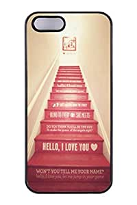 Best Valentines Day Gift For Your Lover - Customaster Hipster Cute High Quality Love Qutoe Series I Love You And Let Me Jump In Your Game Snap On Polycarbonate (PC) Hard Case Skin Back Cover Protector For iPhone 5,5S (Choose from Black and White)