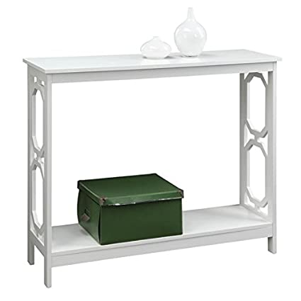 White Pemberly Row Entryway Table Home & Kitchen Tables