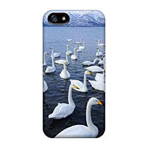 Premium Iphone 5/5s Case - Protective Skin - High Quality For Nature Swans