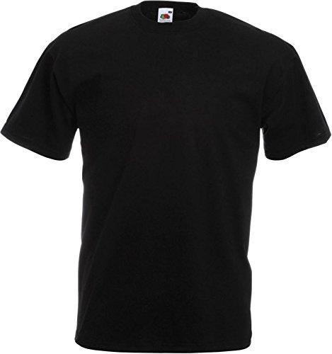 10er Pack Valueweight Fruit of the Loom T-Shirt Größe S - 5XL T-Shirts in vielen Farben XXXXL / 4XL,schwarz