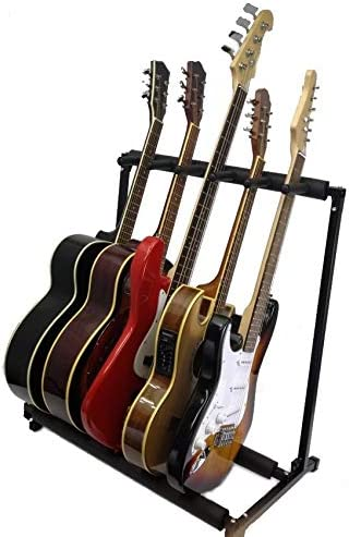 5-Way Multi Guitar Stand Foldable Acoustic Electric Bass Rack Storage *