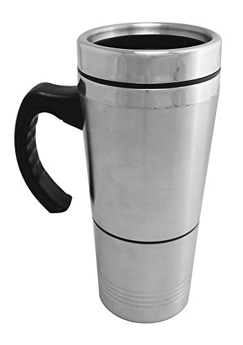 Travel Mug Security Container - Stainless Steel - 7.5""
