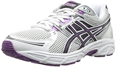 ASICS Women's GEL-Contend Running Shoe,White/Black/Purple,11 M US