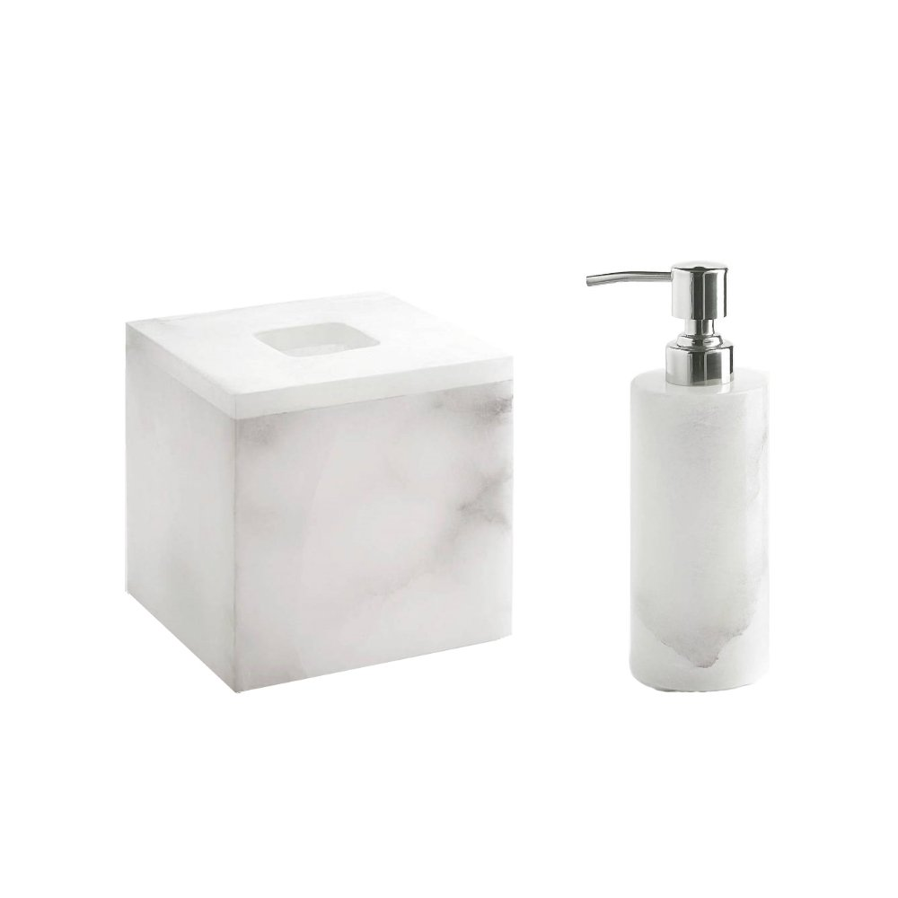 Kassatex Alabaster 2 Piece Bath Set (LD, TISSUE HOLDER) by Kassatex (Image #1)