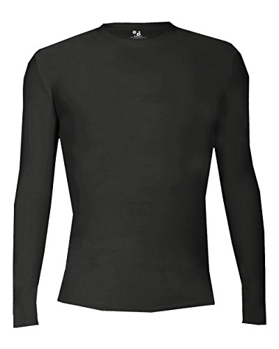 f50e1d4f8c Badger Sport Black Youth XL Pro-Compression Long Sleeve Crew Performance  Sports Poly Spandex Shirt