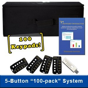 Keypoint Interactive Audience Response System with 100 5-Button Keypads (for Windows PCs) by Keypoint Interactive
