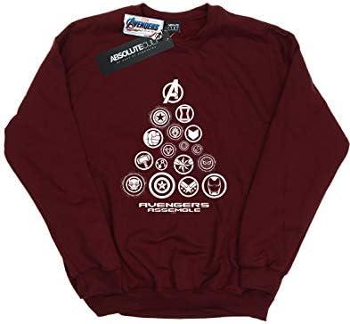 Marvel Herren Avengers Endgame Pyramid Icons Sweatshirt Burgund Large