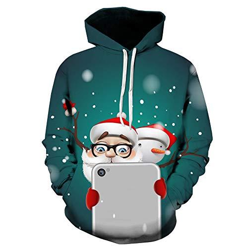 Sweatshirt Field Boys - Mens Hoodie,Christmas 3D Printing Hooded Sweatshirts Teens Boys Loose Drawstring Pullover Coat Zulmaliu (Green 5, L)