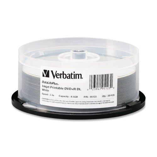 Verbatim White Inkjet Printable 2.4X DVD+R Media Double Laye