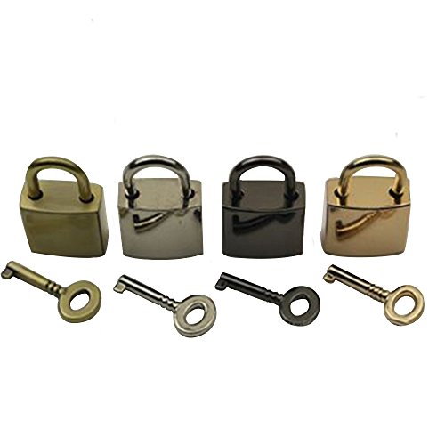 - RZDEAL 4Pcs Four Color Mixed Mini Lock Mini Luggage Padlock Decorative Lock with Keys