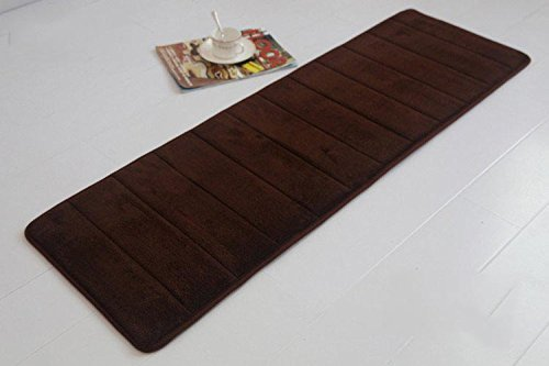 Memory Foam Bathroom Bath Mat Rug In Many Colors Soft Touch Durable  (Chocolate)