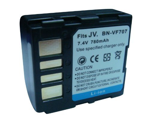 Rechargeable Lithium-Ion Battery Pack for JVC BN-VF707, BN-VF707U, BN-VF714, BN-VF714U, BN-VF733, BN-VF733U, BN-VF733US and JVC GR-D250U, GR-D250, GR-D270, GR-D271, GR-D275, GR-D290, GR-D295, GR-D347, GR-D350, GR-D370, GR-D372, GZ-DF420, GR-DF430, GR-DF45 by Sunny Room