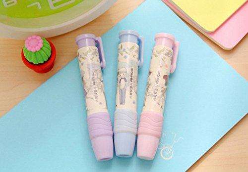 Genonaute Creative Lovely Pen Shape Hand Press Eraser Rubber by Genonaute (Image #9)