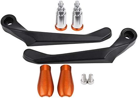 Kupplung Motorrad, Fydun 1 Paar 22 MM die Motorrad Bremskupplung Bremsgriff Bremshebel Schützen den Schutzlenker Anti-Rost Und Wasserdicht(Orange)