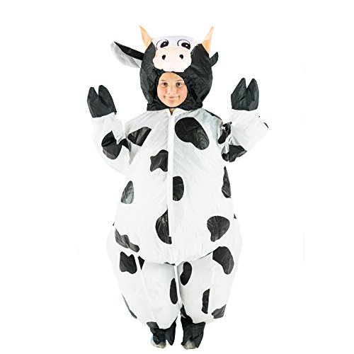 Inflatable Cow Costume - Bodysocks Kids Inflatable Cow Fancy Dress
