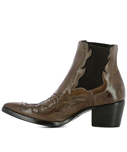 ALBERTO FASCIANI Women's URSULA46036BROWN Brown Leather Ankle Boots 0cAYjNF79