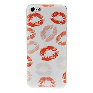 Jia sold out Color Embossed Kiss Pattern Plastic Hard Case Cover for iPhone 5C