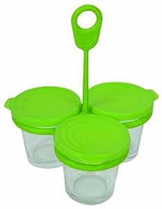 Tefal XA500039 - Yogurtera con tapa (3 unidades)