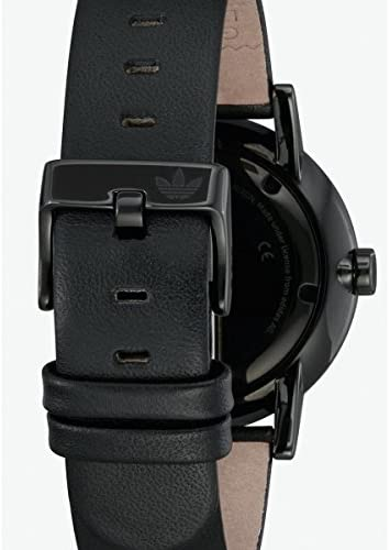 adidas Men's Stainless Steel Quartz Watch with Leather Strap, Black, 21 (Model: Z08-2345-00)