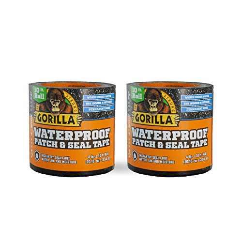 "Gorilla Waterproof Patch & Seal Tape 4"" x 10"