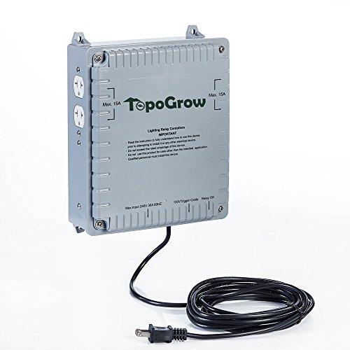 Cheap Hongruilite 4000W / 8000W 4-Light /8-Light HID Master Lighting Relay Controller for Hydroponics Indoor Grow Lighting (4-light)