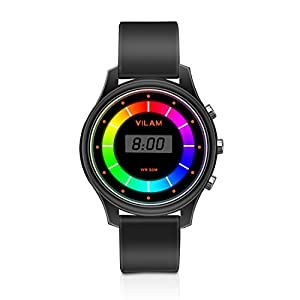 Rainbow Coloured Lights Kids Watch - 7 Colors Flashing 50M Waterproof Children Electronic Watch, Washable Comfortable Watchband Digital Child Wrist Watch for Boys and Girls Christmas Gift