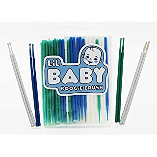 Baby Boogie and Eye Gookie Brushes, Felt Tip Mini Brushes Get in Hard to Reach Places and Clean Earwax, Boogies, and Gookies Easily (100 Pack) Multi