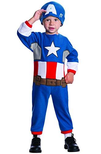 [Rubie's Costume Baby's Marvel Classics Avengers Assemble Captain America Costume, Multi, Toddler] (Baby Wolverine Costume)
