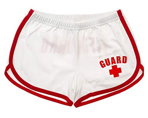 BLARIX Womens Guard Shorts (White, Large) (Lifeguard Shorts Women)