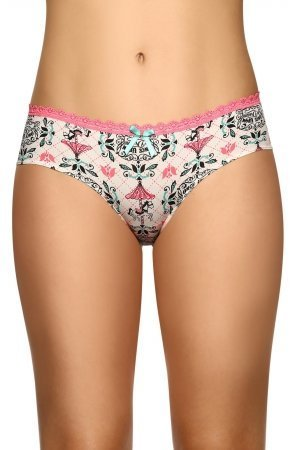 Laura Womens Tanga High Quality Fabric Lace Trim 104156 Vainilla L